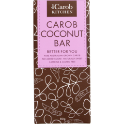 Photo of The Carob Kitchen Carob & Coconut Bar 80g