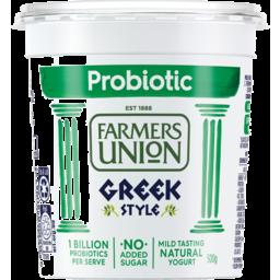 Photo of Farmers Union Probiotic Greek Style Natural Yogurt 500g