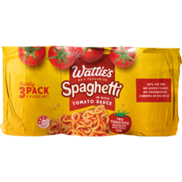 Photo of Watties Spaghetti In Tomato Sauce 3 Pack