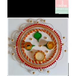 Photo of Diwali Decorative Thali No - Dp-2