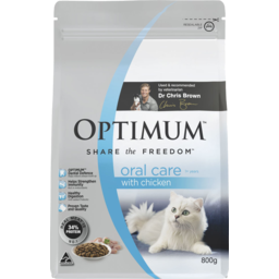 Photo of Optimum Oral Care 1+ Years With Chicken Dry Cat Food 800g