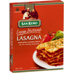 Photo of San Remo Large Instant Lasagna 250g