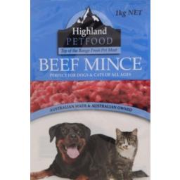 Photo of Highland Pet Beef Mince Fresh 1kg