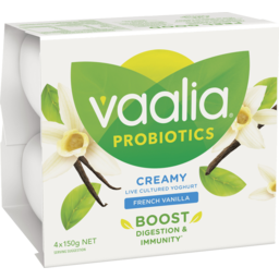 Photo of Vaalia Probiotic French Vanilla Yoghurt 4x150g