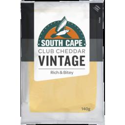 Photo of South Cape Vintage Club Cheddar 140gm