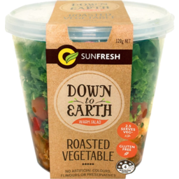 Photo of Sunfresh Down To Earth Roasted Vegetable Warm Salad Pot 320g
