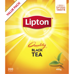 Photo of Lipton Tea Bag Quality Black 200 Pack 400g