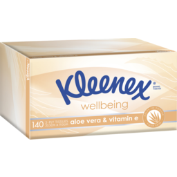 Photo of Kleenex Aloe Vera & Vitamin E Facial Tissues 140 Pack