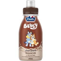 Photo of Pauls Bluey Chocolate Flavoured Milk 250ml