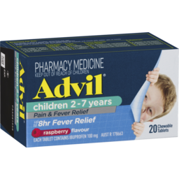 Photo of Advil Children 2-7 Years Chewable Raspberry 20x