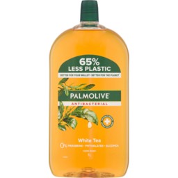 Photo of Palmolive Antibacterial Liquid Hand Wash Soap White Tea Refill & Save 0% Parabens Recyclable 1l