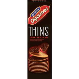 Photo of Mcvities Thins Dark Choc 150g