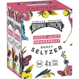 Photo of Brookvale Union Seltzer Juicy Juicy Grapefruit Cans