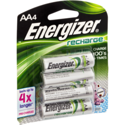 Photo of Energizer Recharge Aa Nimh Battery - 4 Ct
