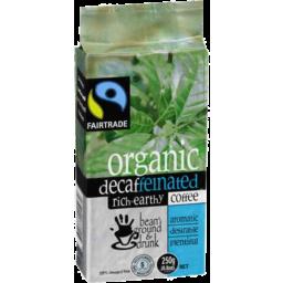 Photo of Bean Ground & Drunk Organic Coffee Decaf Ground 250gm