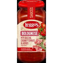 Photo of Leggo's Bolognese With Bacon, Chunky Tomato & Herbs Pasta Sauce 500g