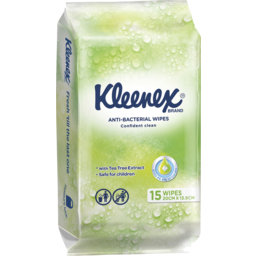 Photo of Kleenex Anti-Bacterial Wipes 15 Pack