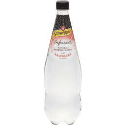 Photo of Schweppes Natural Mineral Water Infused With Raspberry 1.1l