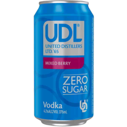 Photo of UDL Vodka Mixed Berry Zero Sugar Cans