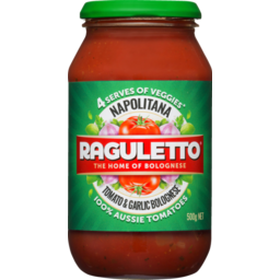 Photo of Raguletto Napolitana Tomato & Garlic Bolognese Sauce 500g