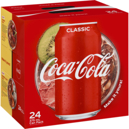 Photo of Coca-Cola Tm Coca-Cola Classic Soft Drink Multipack Cans 24x375ml