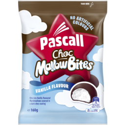 Photo of Pascall Choc Marshmallow Bites Vanilla Lollies 160g