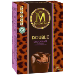 Photo of Magnum Ice Cream Double Chocolate 4 Pack 408ml