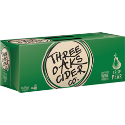Photo of Three Oaks Cider Co. Pear Cider Cans