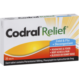 Photo of Codral Relief Cold & Flu + Decongestant 20 Tablets