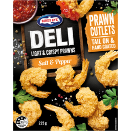 Photo of Birds Eye Deli Light & Crispy Salt & Pepper Tail On Prawn Cutlets 225g