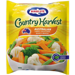 Photo of Birds Eye Country Harvest Carrot Cauliflower Beans Broccoli 500g