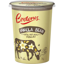 Photo of Brownes Natural Yoghurt With Vanilla Bean 1kg