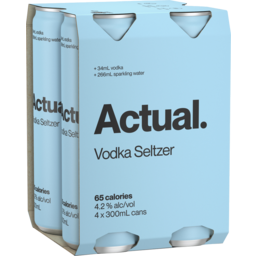 Photo of Actual Vodka Seltzer Cans