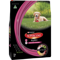 Photo of Purina Supercoat Puppy Dog Chicken Dry Dog Food 7.5kg