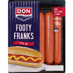 Photo of Don® Skin-On Footy Frankfurts 750g