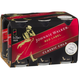 Photo of Johnnie Walker Red & Cola Cans