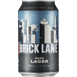 Photo of Brick Lane Base Lager Cans