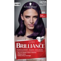Photo of Schwarzkopf Brilliance Dark Amethyst 03 Permanent Hair Colour One Application