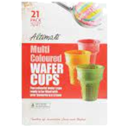 Photo of Altimate  Multi Coloured Wafer Cups 75g