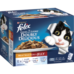 Photo of Felix Adult As Good As It Looks™ Doubly Delicious Meat Selection In Jelly Wet Cat Food 12x85g