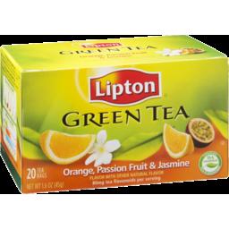 Photo of Lipton Orange, Passion Fruit & Jasmine Flavor Green Tea Bags - 20 Ct
