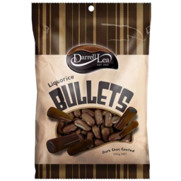 Photo of Darrell Lea Dark Chocolate Liquorice Bullets 250g