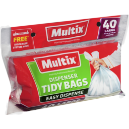 Photo of Multix Dispenser Tidy Bags Large 40 Pack