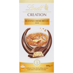 Photo of Lindt Creation Heavenly Creme Brulee Milk Chocolate 100g
