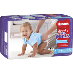 Photo of Huggies Ultra Dry Nappy Pants, Boys, Size 4 Toddler (9 - 14kg), 29 Nappy Pants