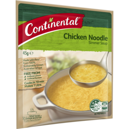 Photo of Continental Simmer Soup Chicken Noodle 45g