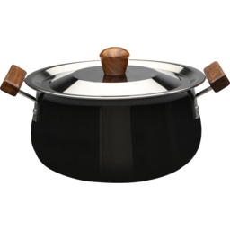Photo of Wonderchef Ebony Hard Anodized Aluminium Handi with Lid cook and serve 5 Litres/24cm - Black/Brown