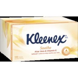 Photo of Kleenex Aloe Vera & Vitamin E Facial Tissues, 140 Sheets