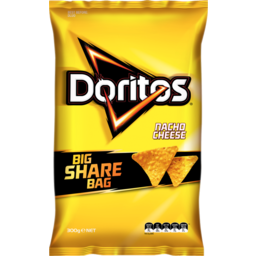 Photo of Doritos Corn Chips Party Bag Nacho Cheese 300g