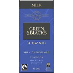 Photo of Green & Black's Organic Milk Chocolate 90g